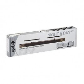 Moteur volet 2 battants G&D filaire blanc FAAC Night ONE Day 105741